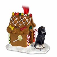 Saluki Gingerbread House Christmas Ornament