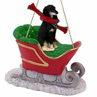 Saluki Sleigh Ride Christmas Ornament