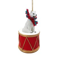 Samoyed Little Drummer Christmas Ornament