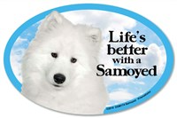 Samoyed Car Magnet - Life's Better