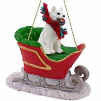 Samoyed Sleigh Ride Christmas Ornament