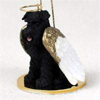 Schnauzer Angel Ornament Black Uncropped