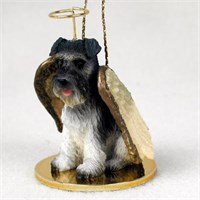 Schnauzer Angel Ornament Gray Uncropped