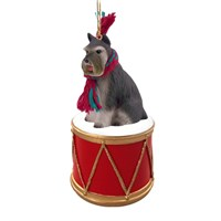 Schnauzer Little Drummer Christmas Ornament
