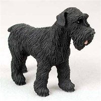 Schnauzer Figurine Black Uncropped