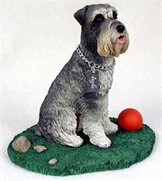 Schnauzer Figurine Gray Uncropped My Dog