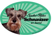 Schnauzer Car Magnet - Spoiled Rotten