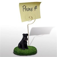 Schnauzer Note Holder (Black Uncropped)