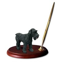Schnauzer Pen Holder (Black Uncropped)