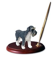 Schnauzer Pen Holder (Gray Uncropped)