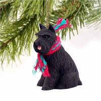Schnauzer Christmas Ornament Black