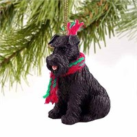 Schnauzer Christmas Ornament Black Uncropped