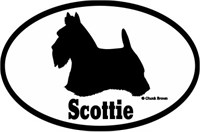 Scottish Terrier Bumper Sticker Euro