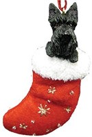 Scottish Terrier Christmas Ornament Stocking