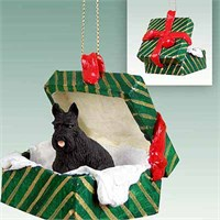 Scottish Terrier Christmas Ornament Gift Box