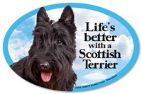 Scottish Terrier Car Magnet - Life's Better