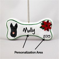 Scottish Terrier Personalized Dog Bone Christmas Ornament