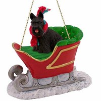 Scottish Terrier Christmas Ornament Sleigh Ride