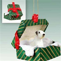 Sealyham Terrier Gift Box Christmas Ornament
