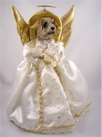 Shar Pei Angel Christmas Tree Topper (Cream)