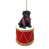 Shar Pei Black Little Drummer Christmas Ornament