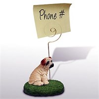 Shar Pei Note Holder (Cream)