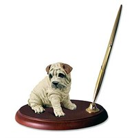 Shar Pei Pen Holder (Cream)