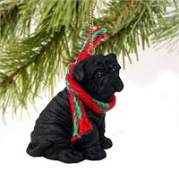 Shar Pei Christmas Ornament Black