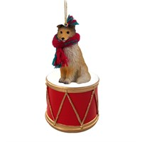 Shetland Sheepdog Little Drummer Christmas Ornament