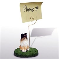 Shetland Sheepdog Note Holder (Tricolor)