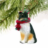 Shetland Sheepdog Tiny One Christmas Ornament Tricolor