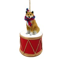 Shiba Inu Little Drummer Christmas Ornament