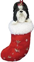Shih Tzu Christmas Ornament Stocking
