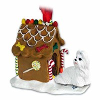 Shih Tzu Christmas Ornament Gingerbread House