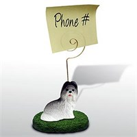 Shih Tzu Note Holder (Gray)