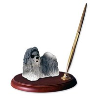 Shih Tzu Pen Holder (Gray)