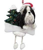 Shih Tzu Christmas Tree Ornament Personalized