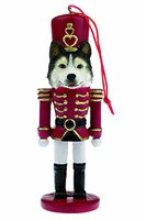 Siberian Husky Ornament Nutcracker