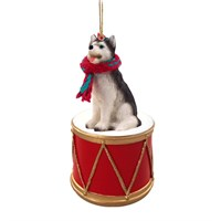 Siberian Husky Little Drummer Christmas Ornament