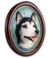 Siberian Husky Sculptured Portrait