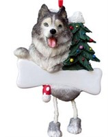 Siberian Husky Christmas Tree Ornament Personalized