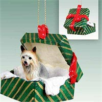 Silky Terrier Christmas Ornament Gift Box