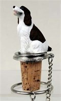 Springer Spaniel Bottle Stopper (Liver & White)