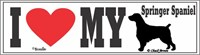 Springer Spaniel Bumper Sticker I Love My