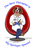 Springer Spaniel T Shirt Best Therapist