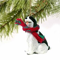 Springer Spaniel Tiny One Christmas Ornament Black and White
