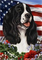 Springer Spaniel House Flag B-W