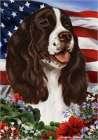 Springer Spaniel House Flag Liver