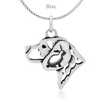 Beagle W/Rabbit Sterling Silver Necklace