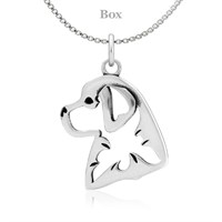 Sterling Silver Bernese Mountain Dog Necklace